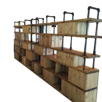 Vintage Industrial Style Dividing Wall Shelving Unit by ...