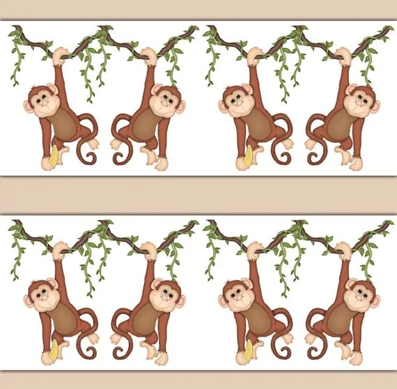 Animal Print Wallpaper For Bedrooms Baby Jungle Border Www Imgkid Com The Image Kid Has It