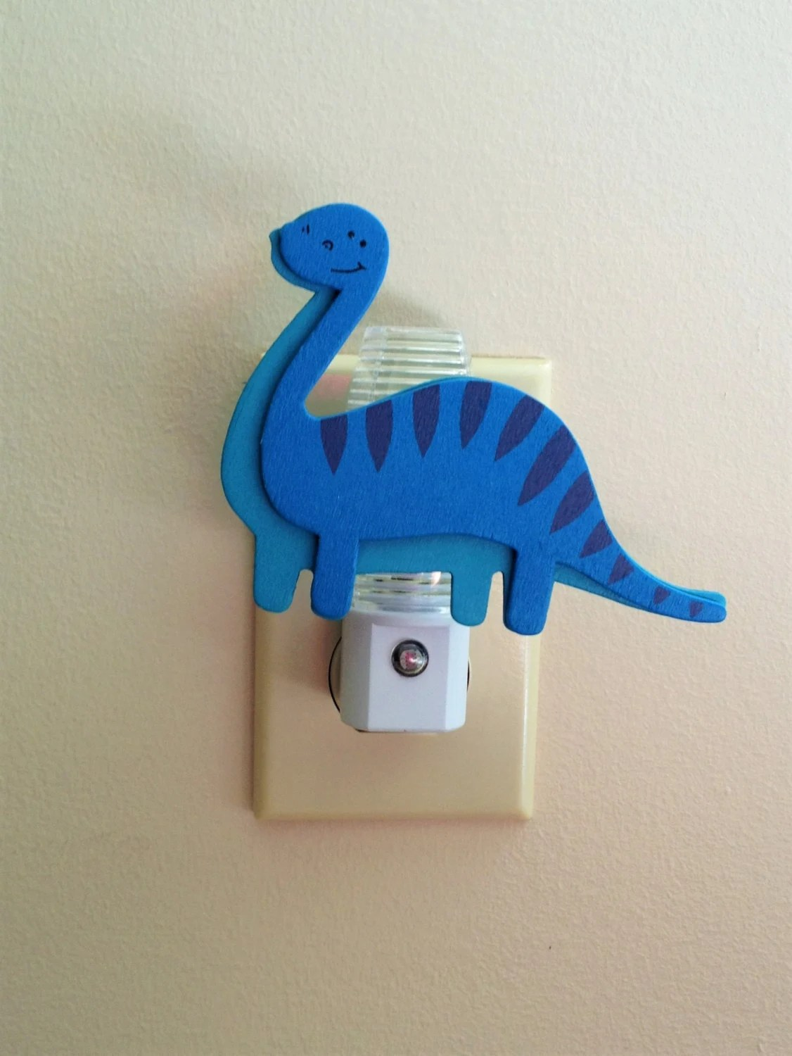 Boys Room Night Light Boys Dinosaur Night Light Blue T Rex Dinosaur Decor Boys Room