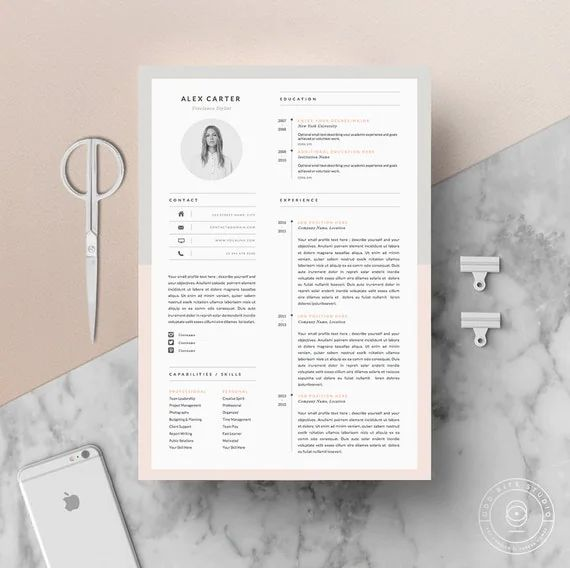 exemple de cv indesign