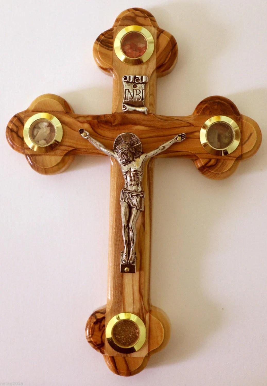 Olive Wood Cross Wall Hanging Jesus Crucifix 7 Bethlehem
