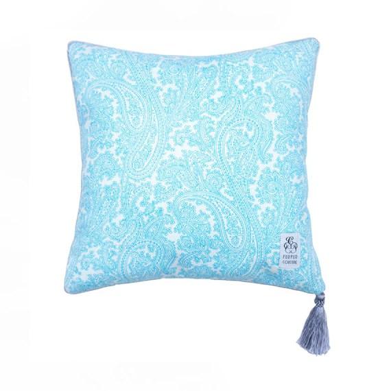 Aquamarine Decorative Pillow Decorative Pillow with Tassel