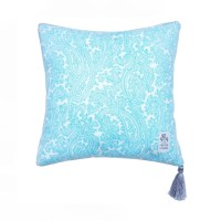 Aquamarine Decorative Pillow Decorative Pillow with Tassel