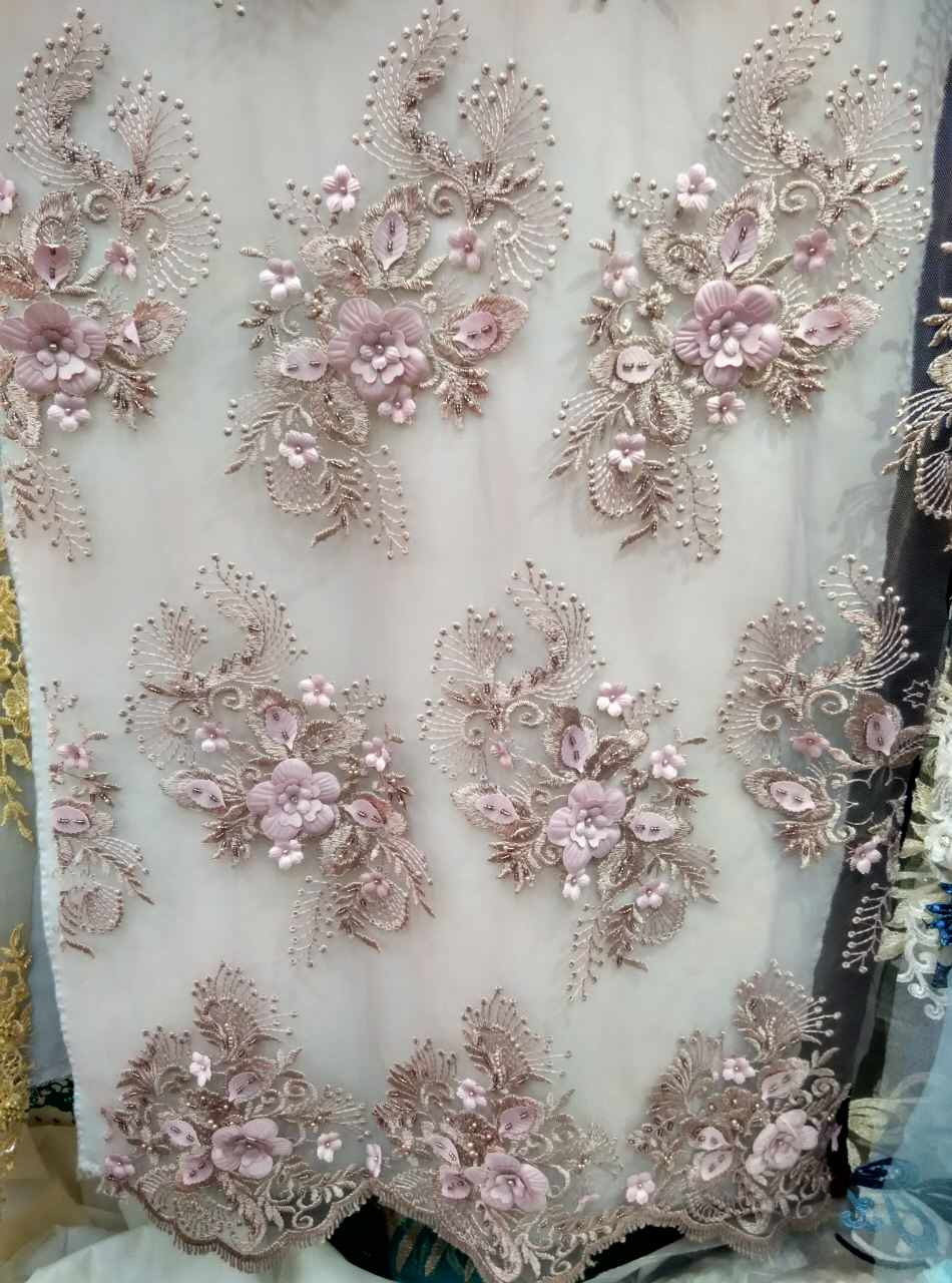 Create Own 3d Name Wallpaper 3d Lace Fabric Nude Pink Lace Fabric With 3d Flowers 3d Plum