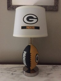 Green Bay packers football lamp. Nfl sports team. Made by