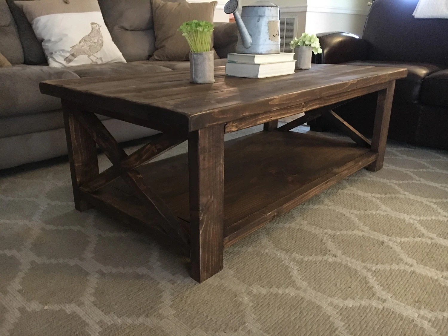 Farmhouse Coffee Table Etsy Farmhouse Coffee Table By Mattesonwoodworks On Etsy