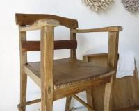 Rustic antique children's chair high chair handmade