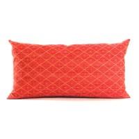 Lumbar Pillow Cover Red Throw Pillow Textured Diamond Chenille