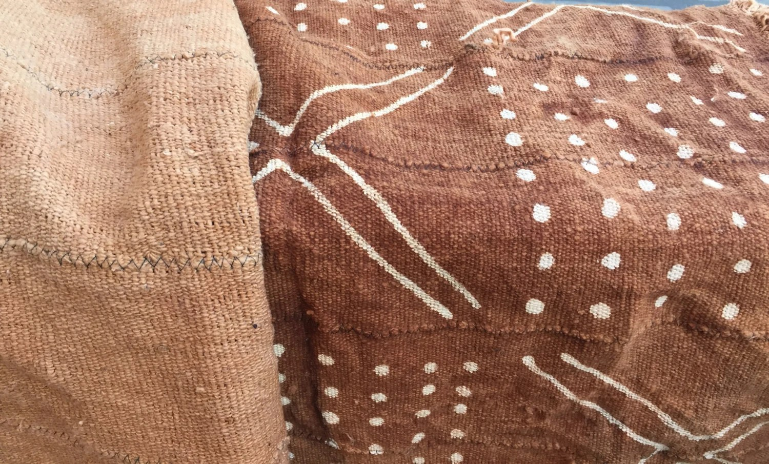 Rustic Upholstery Fabric Rust Mudcloth Fabric Throw Blanket 3'x5' Mud Cloth