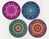 Mandala Coasters - Mandala Art - Drink Coasters ...