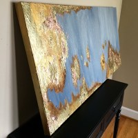 Gold leaf painting   Etsy