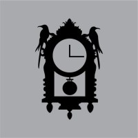 Tic-Toc Halloween Raven Wall Clock Vinyl Wall Decal Graphic
