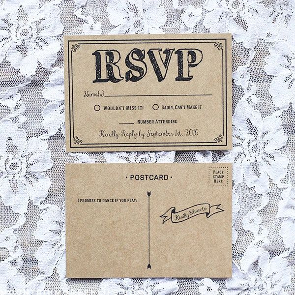 rsvp card templates free
