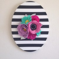 Felt Wall Art Floral Wall Hanging Floral Wall Art