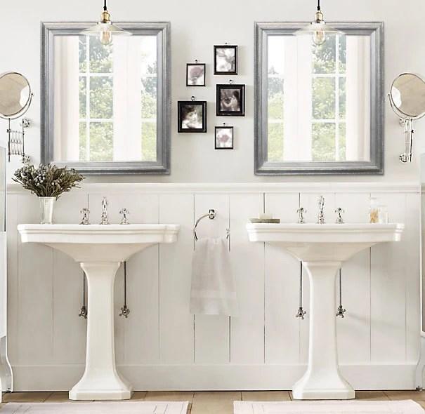 ANY COLOR Brushed Nickel Modern Bathroom Mirror Framed