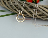 Silver / Gold Ring Holder Necklace Wedding Ring Holder Wife