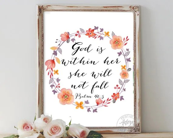 God Is Within Her She Will Not Fall Wallpaper God Is Within Her She Will Not Fall Psalm 46 5 She Will Not