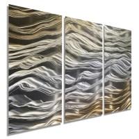 NEW Original Handmade Gold & Silver Abstract Metal Wall Art