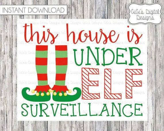 40 Fun Creative Christmas Elf On The Shelf Printables