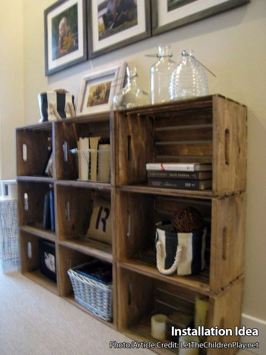 Wooden Crates For Building Shelves Stackable Wooden Crate