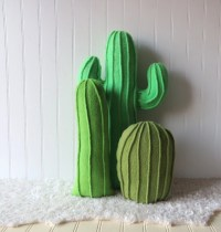 Cactus Garden Cactus Pillows Pillow Collection Set of 3