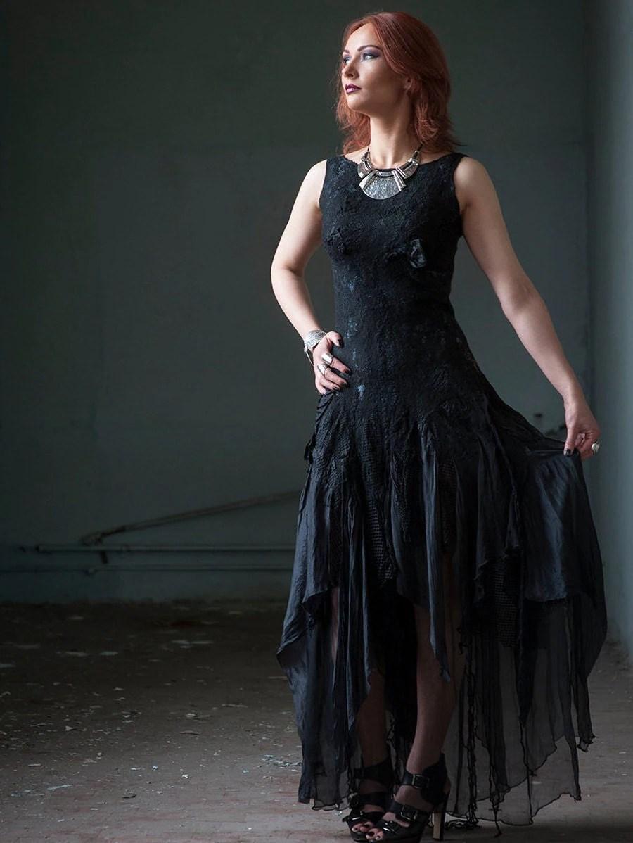 black wedding dress alternative bridal etsy wedding dresses zoom