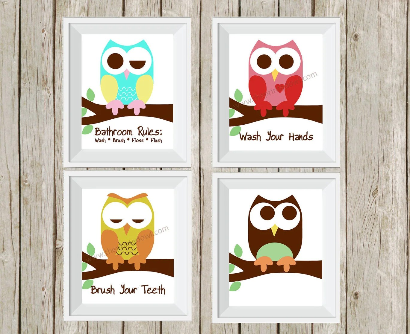 Owl Decor For Bathroom Owl Bathroom Decor Kid 39s Bathroom Art Bathroom Rules