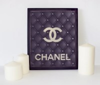 Leather Chanel Logo Chanel Wall Art Coco Chanel Print