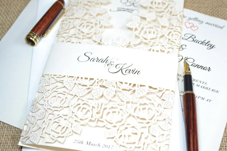 boho wedding invite wedding invitations Ivory wedding invitation laser cut wedding invitation lace wedding invitation with envelope romantic wedding invitation Laser cut invite
