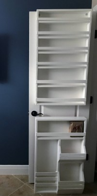 Door mounted spice rack pantry door spice rack door spice
