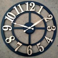 Large Wall Clock I Raised Numbers