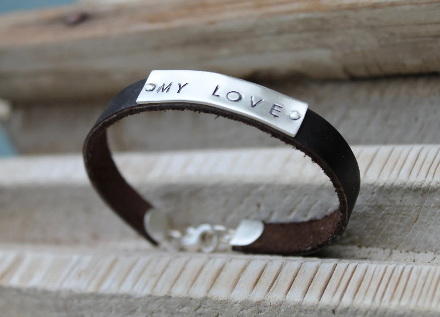 Aweinspiring Mentors Personalized Mens Personalized Lear Mens Lear Bracelet Personalized Gifts Mens Personalized Lear Mens Lear Bracelet Bracelet gifts Engraved Gifts For Men