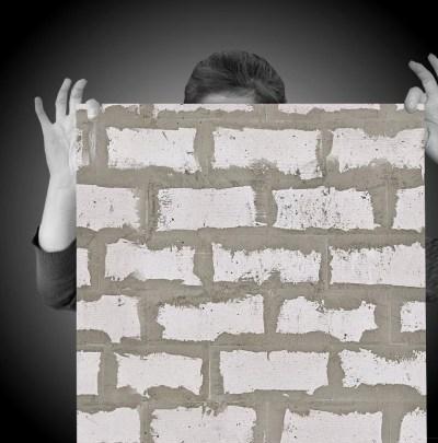 Rustic Brick Easy Peel and Stick Wallpaper 8' Panel