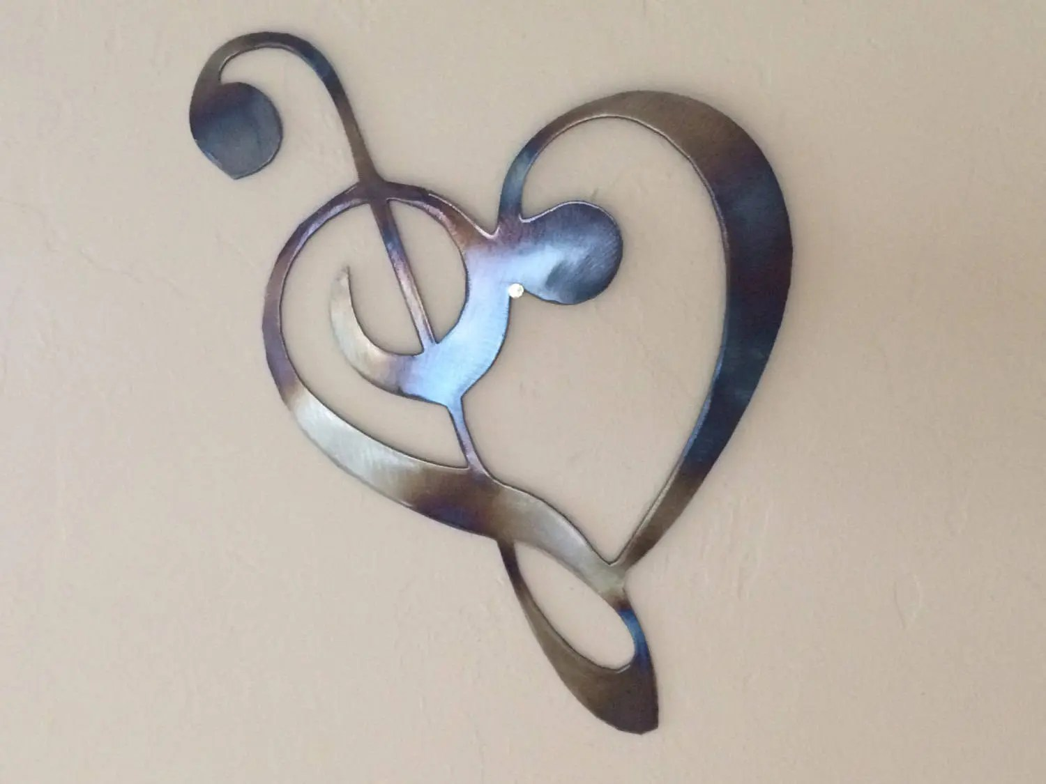 Metal Music Wall Art Heart Music Notes Metal Wall Art Decor