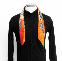 Silk scarf handpainted, Silk mens scarf, Jaguar scarf ...