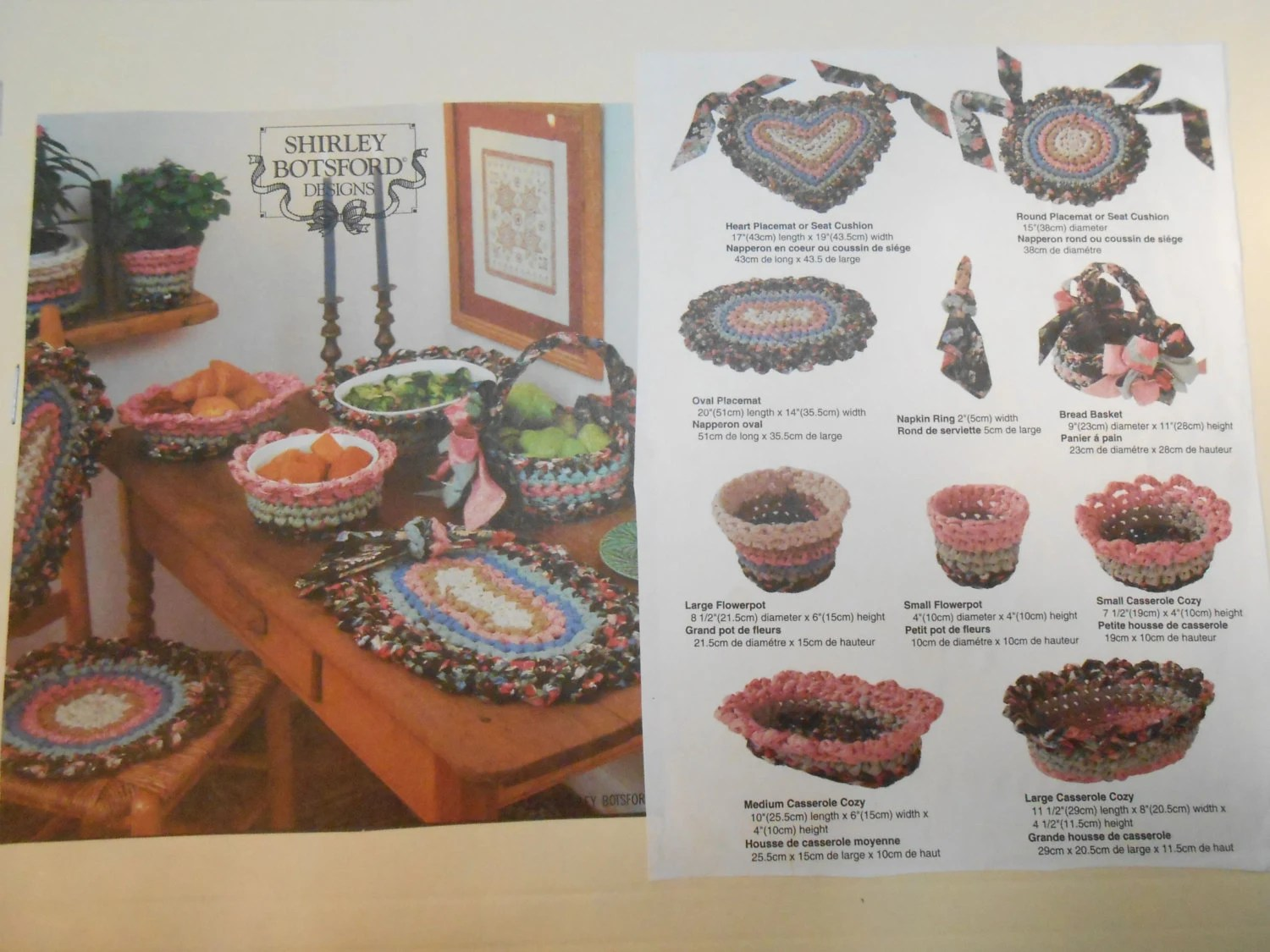 Giotto Decor Materials Instructions Vintage Instructions Simplicity 8204 Fabric Crochet Home
