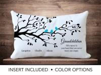 Grandchildren Family Tree Pillow Personalized grandparent