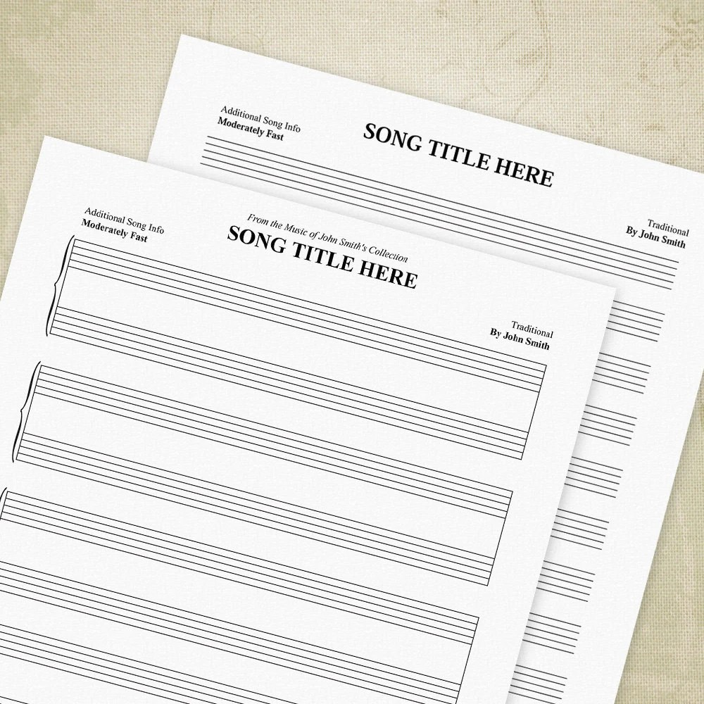 Music Staff Bar Charts PDF Manuscript Paper Staves Sheet - music staff paper template