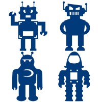 Robot Wall Decal Sticker by MeekoPrints on Etsy