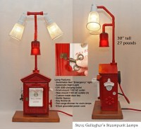 Gamewell Fire Alarm Station Box Steampunk Industrial Pipe Lamp