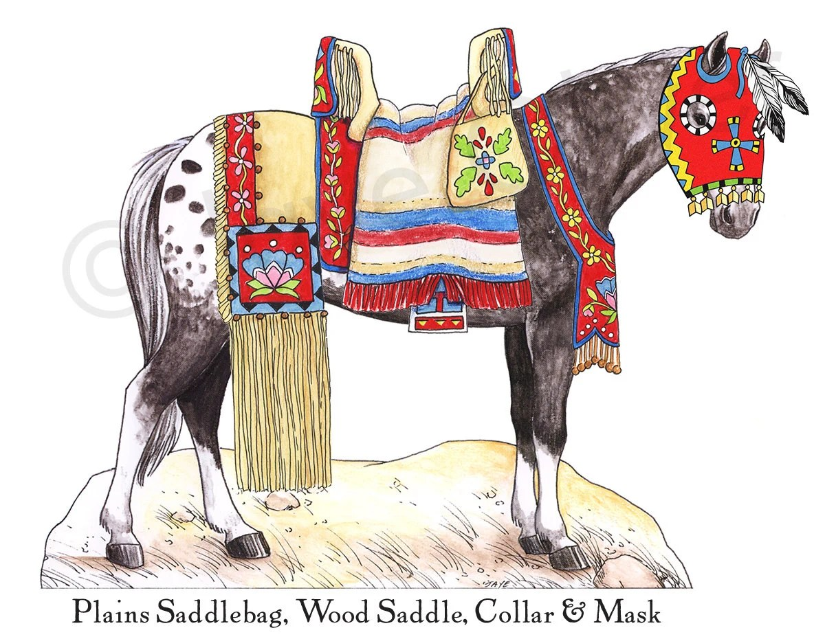 Printable Paperdoll Appaloosa Horse Native American