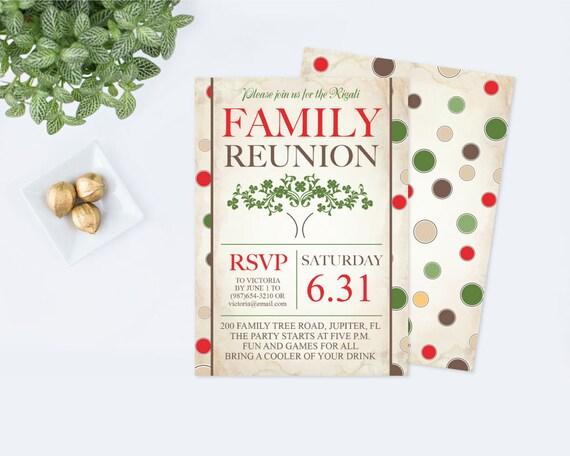 Printable Family Reunion Invitation Editable Pdf Template