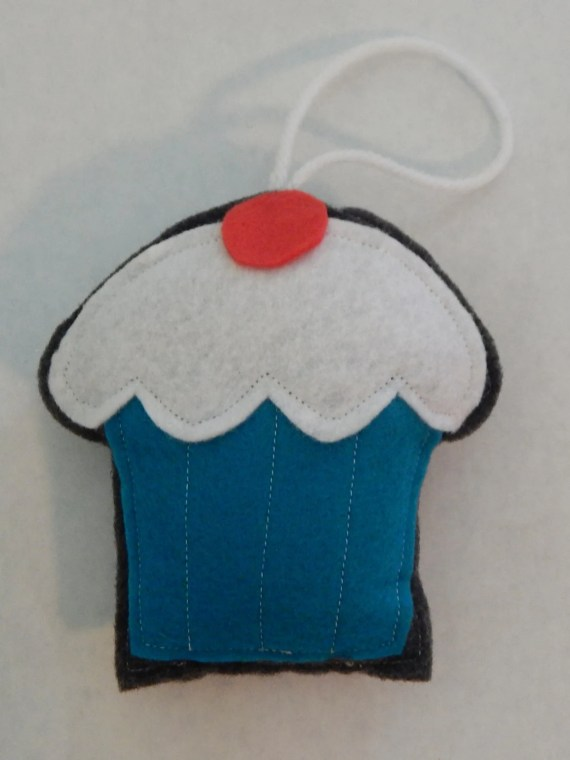 Cherry Vanilla Cupcake Ornament