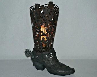 Cowboy Boot Lamp Etsy