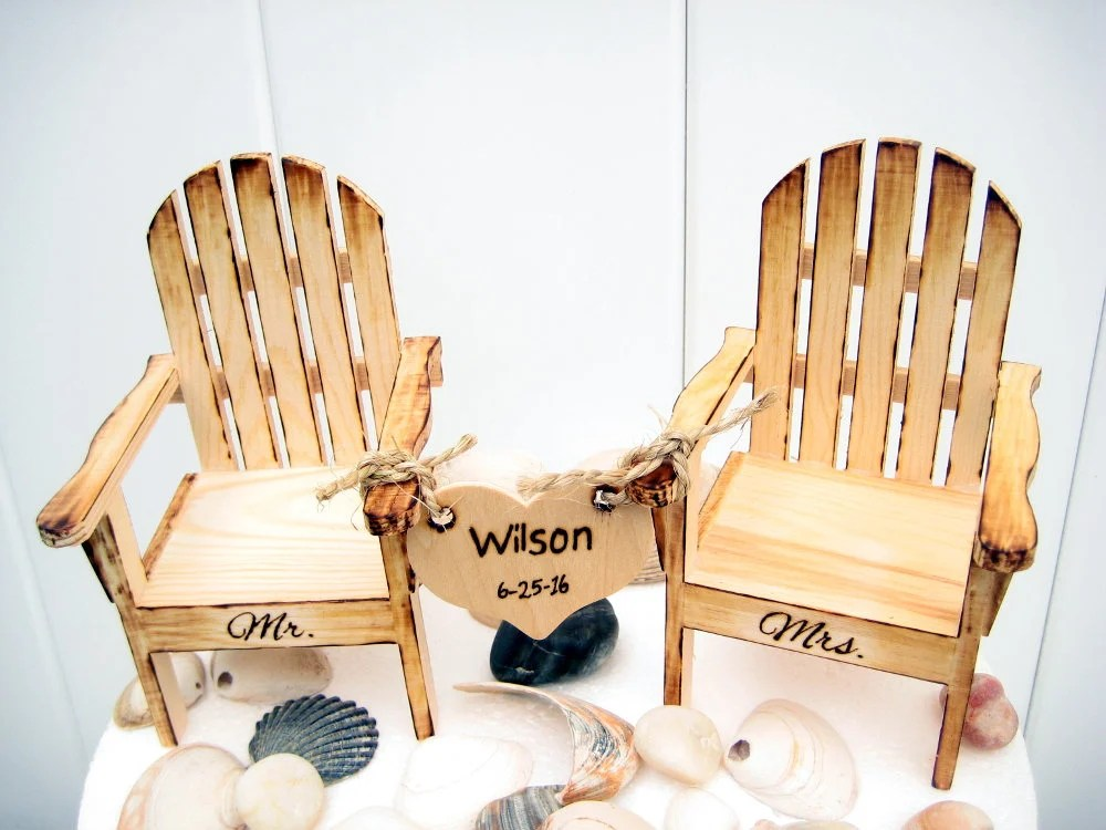Beach Wedding Cake Topper Beach Chair Cake Topper Adirondack