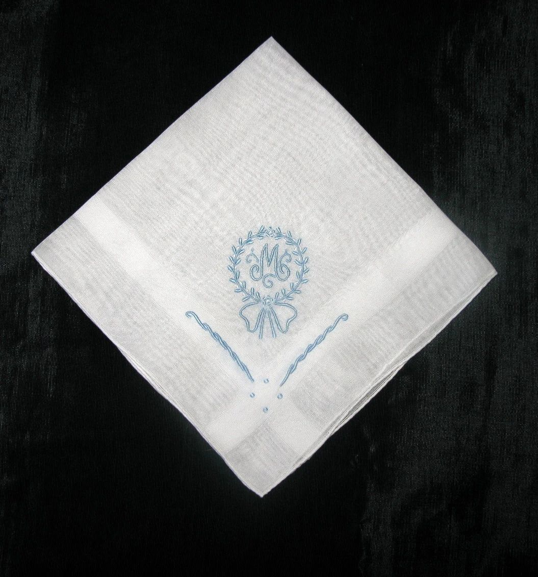vintage monogrammed handkerchiefs