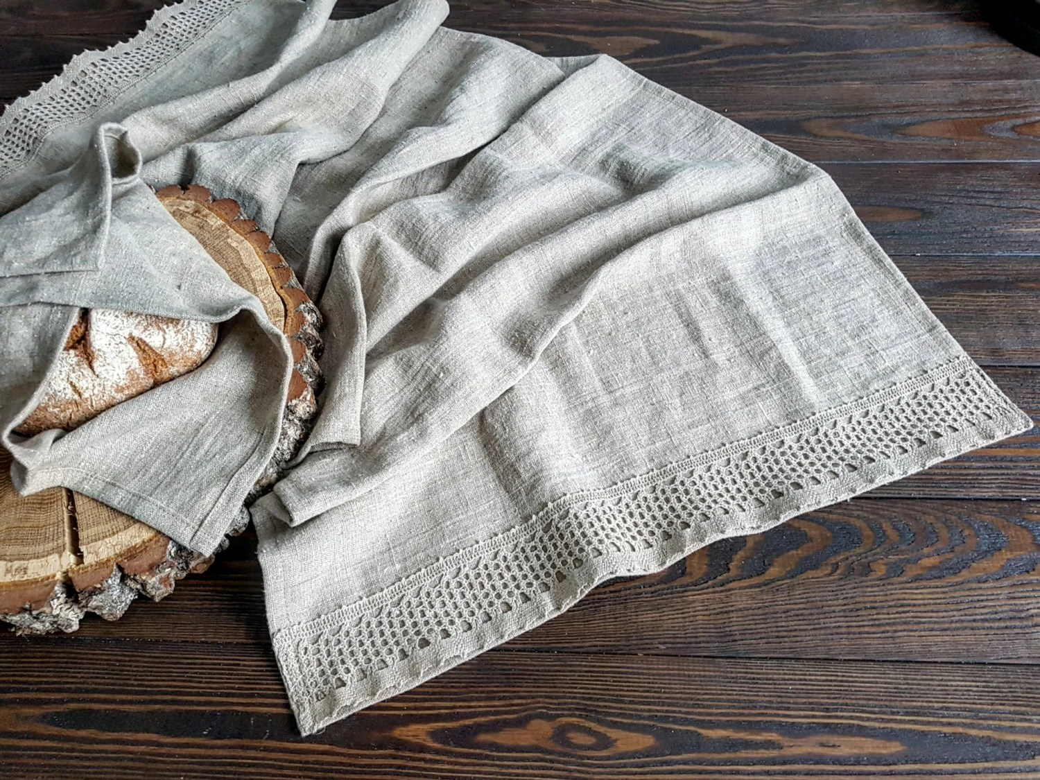Farmhouse Style Table Runners Rustic Linen Table Runner Vintage Linen Runner Stonewashed