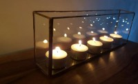 Long glass candle holder airplant holder tealight holder
