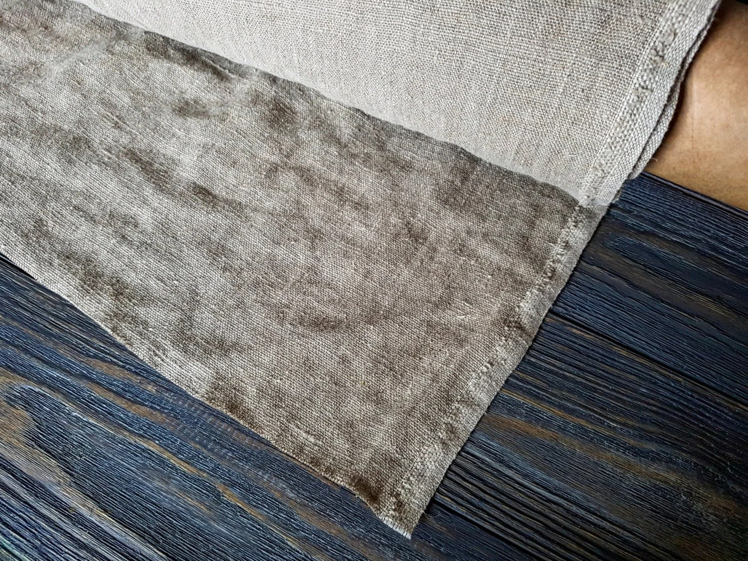 Rustic Upholstery Fabric Rough Linen Fabric By The Meter, Stonewashed Linen Fabric