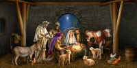 Outdoor Decoration Nativity Scene Garage Door by AnyDoorDecor